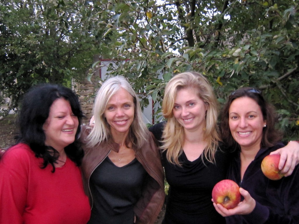 Zlata, me, Michelle, and Lisa sharing a last hug (and some huge apples) in a moment that bridged the divides of historical conflict, cultural difference, our history and our present lives.